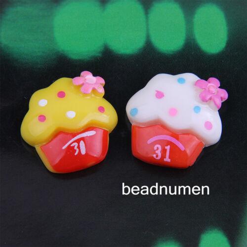 12pcs resin mix color Ice cream Scrapbook Craft Flatback decoration diy