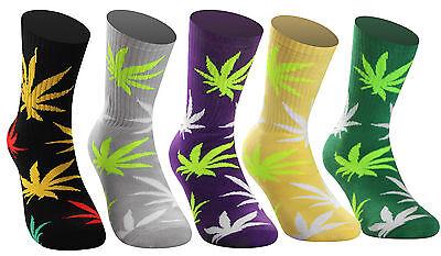 Samson® Weed Socks Cannabis Marijuana Skate Dope Crew Street Skateboard Unixes