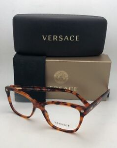 d832282aed10 New VERSACE Eyeglasses VE 3190 5074 52-16 140 Tortoise Cat-Eye ...
