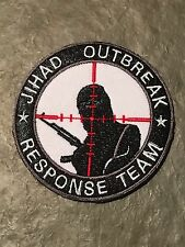 White JIHAD OUTBREAK SNIPER Scope Crosshair SWAT Black Ops Tactical Morale PATCH