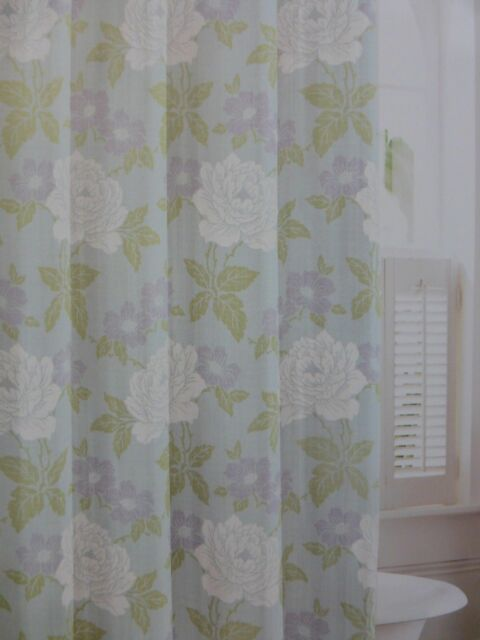 Laura Ashley Isadora 100 Cotton Fabric Shower Curtain 72 X NIP