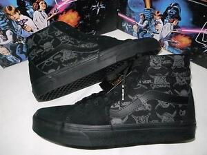 Détails sur Vans Star Wars Sk8 Hi Dark Side! Dark Vader Vans! afficher le titre d'origine