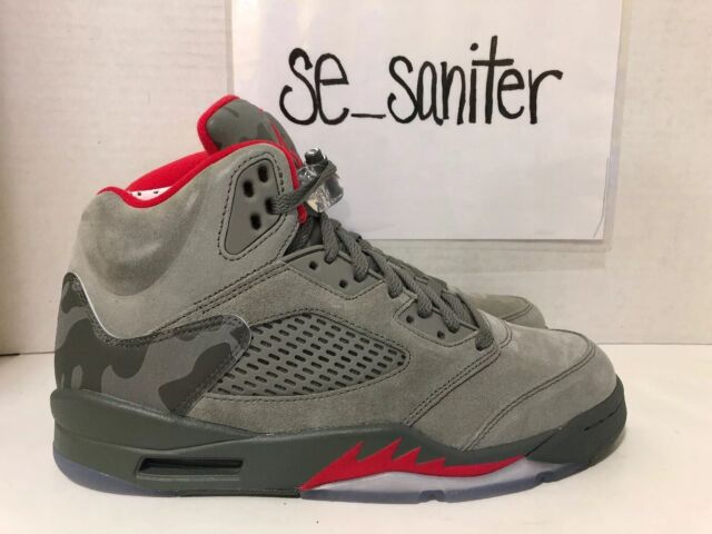 pretty nice a46a8 6113f Nike Air Jordan 5 Retro Reflective Camo Dark Stucco 136027 051 Men s Size  9.5