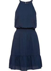 Kleid mit Volants Gr. 48 Dunkelblau Sommerkleid Mini ...