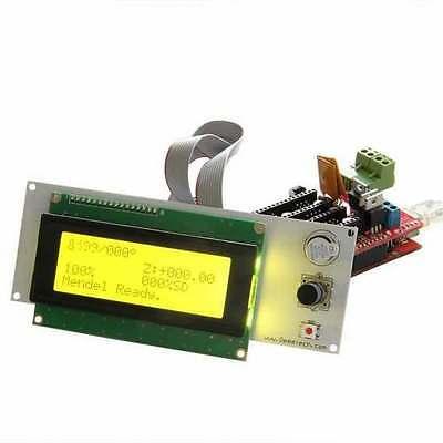2004 LCD Display 3D Printer Controller + Adapter For RAMPS 1.4 Reprap Mendel