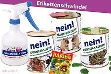4erSet-Konserve Überraschung Geburtstag Dosen Arschloch-Spray Maus Frosch Spinne