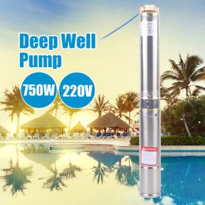 6000L/H Pompe de Puits Profond Submersible Pompe à Eau Immergée Acier Inoxydable