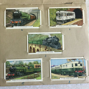 Old-Wills-CIGARETTE-CARDS-ORIGINAL-ALBUM-Trains-Gallaher-UK-london
