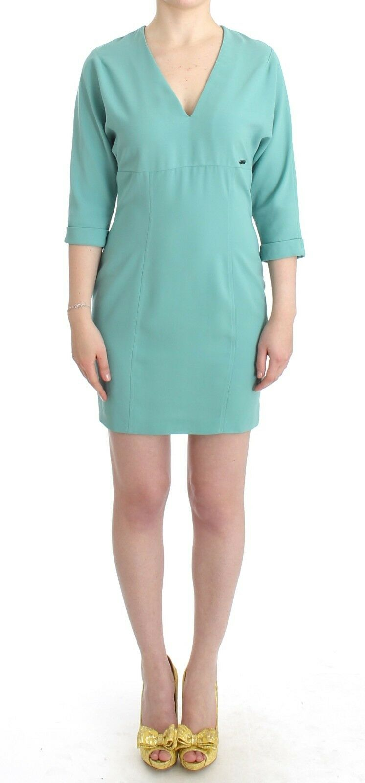 NEW  C'N'C COSTUME NATIONAL Dress Green Sheath Pencil Wiggle Pencil IT44 US8