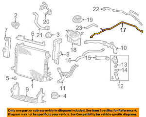 jaguar oem 03 08 s type 3 0l v6 radiator hose xr849442 ebay rh ebay com Jaguar XK8 Engine Diagram 2004 Jaguar S Type Engine Diagram