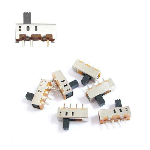 10-teilig 4 Pin Pcb 3 Positionen Spdt Mini Größe Schiebeschalter On-Off SS13F06