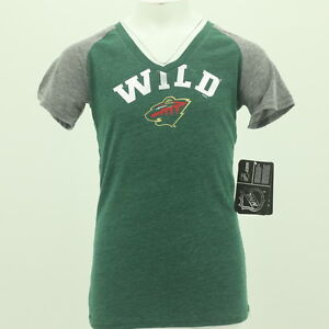 size 40 ebca6 f91d5 Details about NEW Minnesota Wild Youth Size Girls Shirt NHL Official  Apparel New With Tags