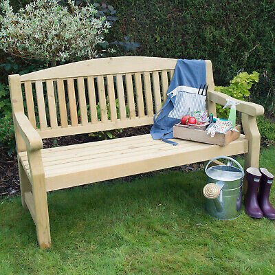 Forest 5ft Harvington Wooden Garden Bench Pressure Treated
