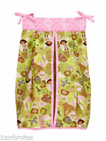 Dora Exploring The Wild Diaper Stacker Cheetah Girl's Jungle Safari Brown Pink