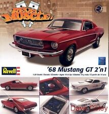 Revell 4215 1:25th scale Muscle 68 Ford Mustang GT 2 n 1 kit Cobra Jet