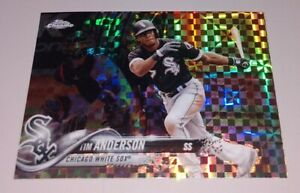 REFRACTOR TIM ANDERSON 2018 Topps Chrome Xfactor Refractor Printed in Back MINT