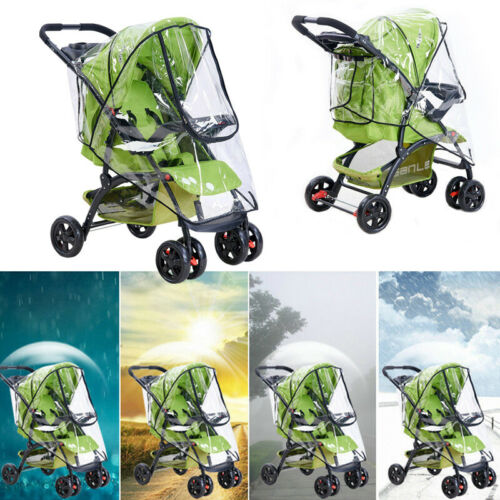 Baby Stroller Rain Covers Dust Coat Universal Waterproof Antifog Baby Car Shield