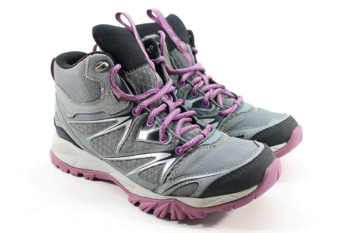 Merrell Capra Bolt Mid WP Women's Grey Purple Hiking Boots     2073
