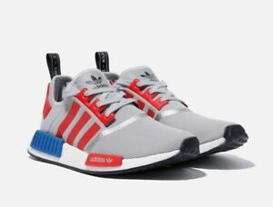 wholesale dealer be6c5 52e59 Details about Adidas NMD R1 Micropacer F99714 Grey/ Red/ Blue, Unisex Shoes  Athletic Sneakers