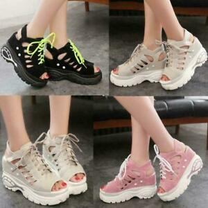 Women Gladiator Platform High Heels Sandals Summer Shoes Peep Toe Ankle Boots Sz