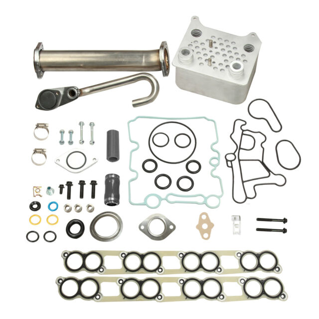 EGR Delete Kit And Upgraded High Flow Oil Cooler Kit With Gaskets For Ford 03-10