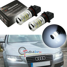 2PC HID White P13W Reflector LED Bulbs For Audi A4 Q5 Daytime Running Lights DRL