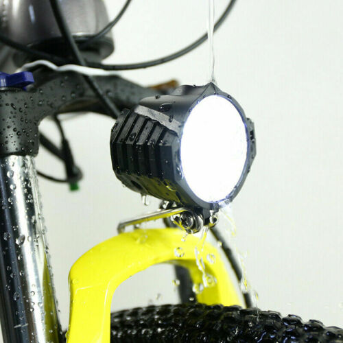 Electric moutian bicycle front light 12v48v spotlight with horn ebike Waterproof