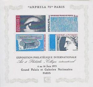 Frankreich-Block-5-Kunst-Ausstellung-ARPHILA-Paris-1975-postfrisch-MNH