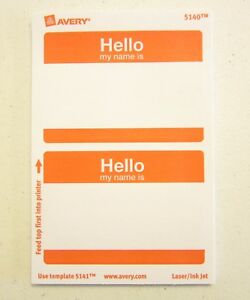 """30 /""""HELLO MY NAME IS/"""" NAME TAGS LABELS BADGES STICKERS PEEL RED BLUE GREEN"""
