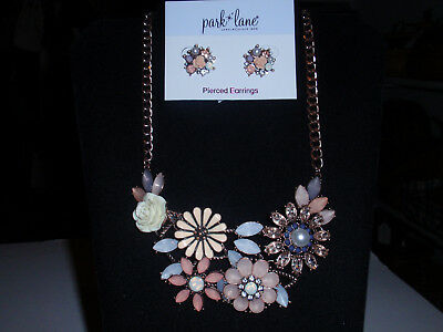 "New!ii Skilful Manufacture ""ash Love"" Necklace & Earrings Gems Crystals Fine Park Lane Jewelry"