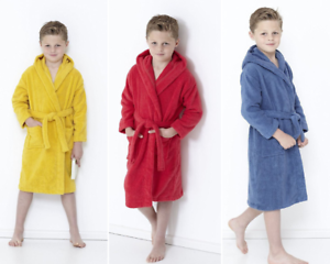 Style It Up Kids Boys Girls Terry Towelling Soft Dressing Gown Bath Robes 100/% Cotton Hooded
