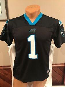 wholesale dealer c7903 f433b Details about SWEET Cam Newton Carolina Panthers Youth Lg 14-16 Black  Reebok Jersey, NICE!