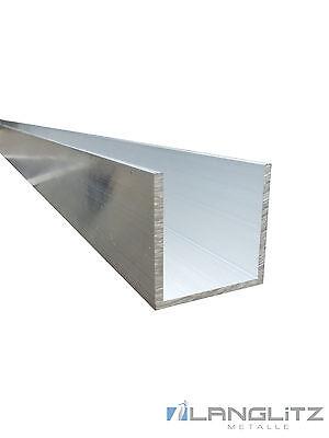 Aluminium U-Profile AlMgSi0,5 Aluprofil Modellbau Alu U Profil Schiene 50-300 cm
