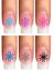 Indexbild 12 - Nail Tattoo Nail Art Schneeflocken Eiskristalle Winter Weihnachten + Glitter