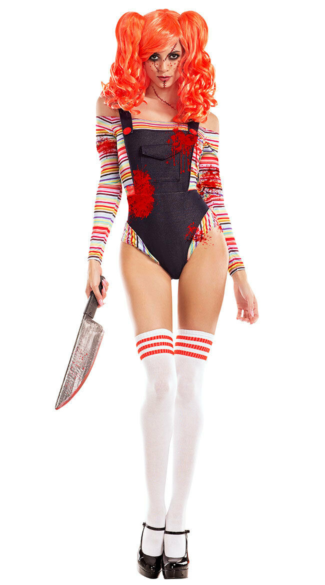 Sexy Party King Killer Doll Chucky Bloody Bodysuit Costume