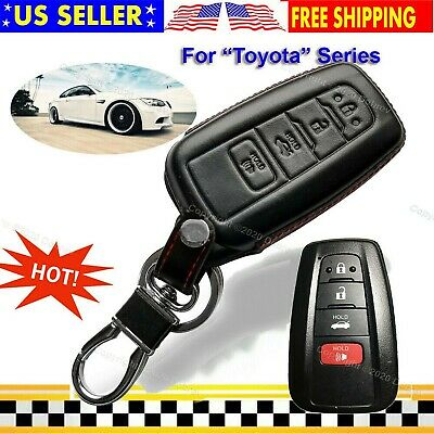 TANGSEN Smart Key Fob Personalized Case Protective Cover for TOYOTA AVALON CAMRY COROLLA HIGHLANDER RAV4 2 3 4 Button Keyless Entry Remote 3D Carbon Fiber ABS Plastic Emboss
