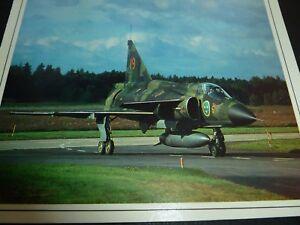 SAAB-37-VIGGEN-SWEDEN-DEFENSE-AIRCRAFT-FLUGZEUG-CARTE-CARD-KARD-1988-FRENCH