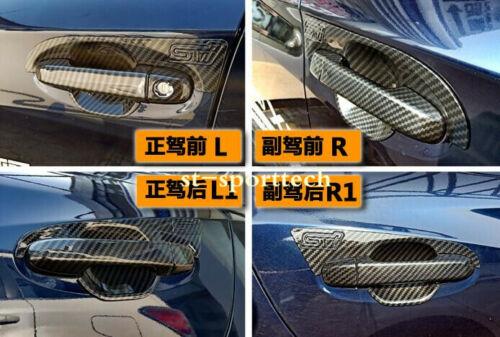 For Subaru Crosstrek XV 2018 Carbon Fiber Style Door Handle Bowl Cover Trim