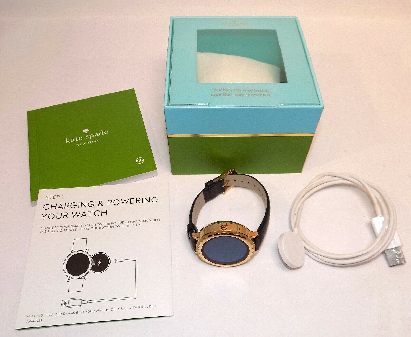 Kate Spade Dw5k1 Gold Tone 42mm Scallop Ladies Smartwatch W Box For Sale Online