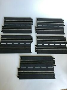 "OEM ARTIN 1/43 Slot Car 7"" Straight Track Sections - Lot of 5 - Track Tested"