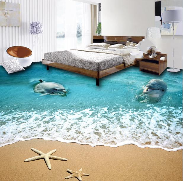 3D Starfish Beach 700 Floor WallPaper Murals Wall Print Decal AJ WALLPAPER US