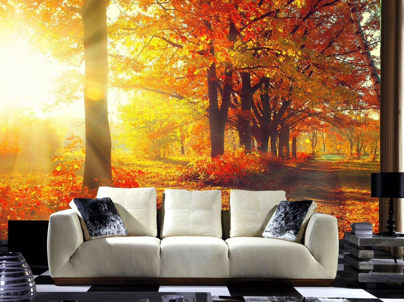 Tree Leaves Plants Forest Autumn Photo Wallpaper Mural Home Poster Decoration h