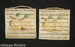 Image Is Loading Vintage Pair Of Stoneware Tile Kitchen Wall Plaques