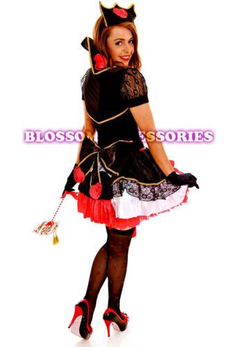 G81 Evil Red Queen of Hearts Alice In Wonderland Fancy Dress Halloween Costume