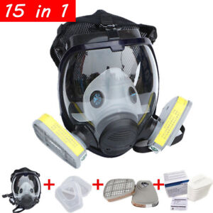 15PCS-Full-Face-Gas-Mask-Painting-Spraying-Facepiece-Respirator-Similar-For-6800