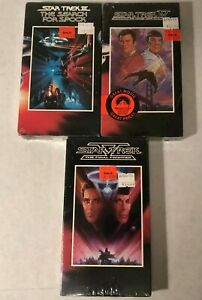New-Sealed-Star-Trek-VHS-lot-of-3-III-IV-V-Search-for-Spock-Voyage-Home
