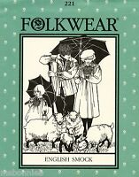 Folkwear English Smock Sewing Pattern 221 Men Women Child Sizes Cd Instructions