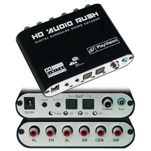 C11-Digital-Audio-Sound-Decoder-Konverter-SPDIF-Toslink-Stereo-5-1-Stereoanlage