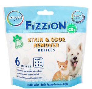 Fizzion-Concentrated-Cleaner-6-Tablet-Pet-Stain-amp-Odor-Remover-Makes-6-Refills