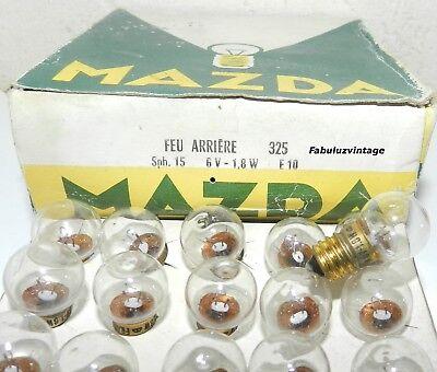 OLD FRANCE AMPOULE MAZDA 6V 1.8W E10 AMPOULE FEUX ARRIERE 325 LIGHTING